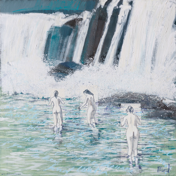 Merel-work-2018-LOVE-is-the-water-of-life,-jump-into-the-water-90x90cm