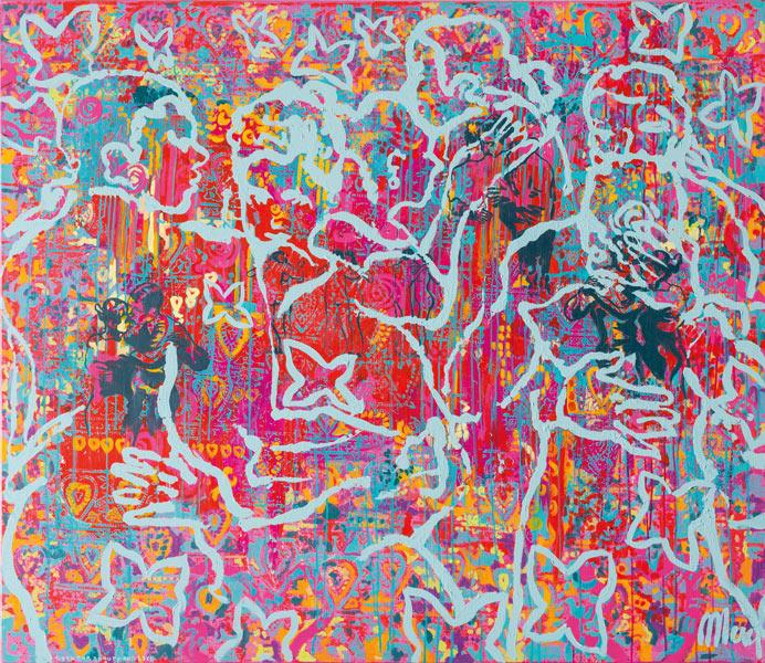 Merel-work-2018-When-we-dance-butterflies-in-my-stomach-140x120cm